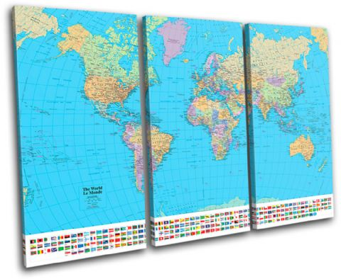 School World Atlas Maps Flags - 13-1781(00B)-TR32-LO